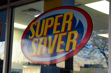 Super Saver Store Front Sign